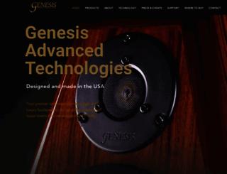 genesisloudspeakers.com screenshot