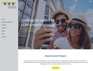 genesisprojects.com screenshot