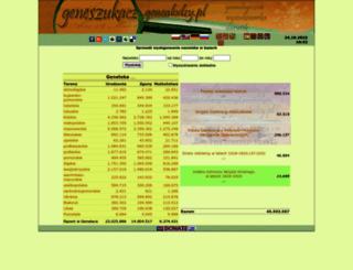 geneszukacz.genealodzy.pl screenshot