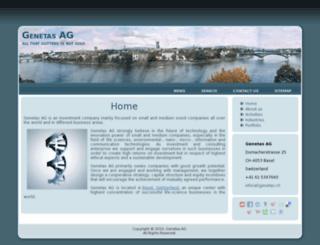 genetas.ch screenshot