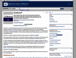 genetests.org screenshot