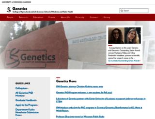 genetics.wisc.edu screenshot