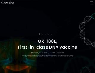 genexine.com screenshot