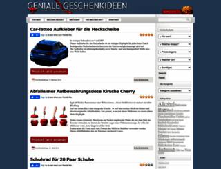 geniale-geschenkideen.net screenshot