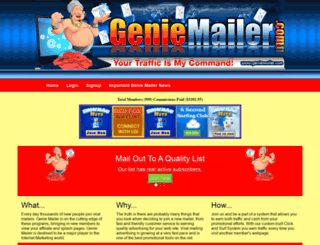 geniemailer.com screenshot