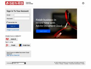 genieo.echosign.com screenshot