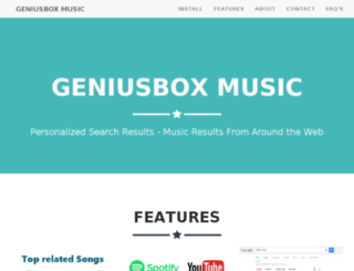 geniusboxmusic.com screenshot
