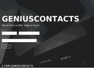 geniuscontacts.com screenshot