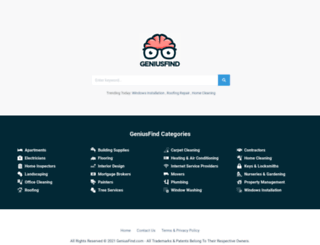 geniusfind.com screenshot