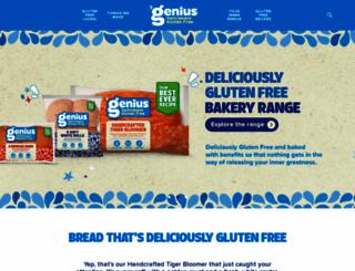 geniusglutenfree.com screenshot