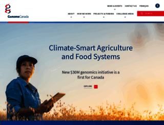genomecanada.ca screenshot