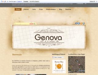 genova-cafebar.es screenshot