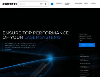 gentec-eo.com screenshot