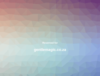 gentlemagic.co.za screenshot