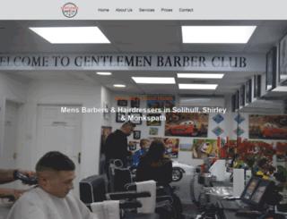 gentlemenbarberclub.uk screenshot
