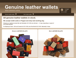 genuine-leather-wallets.com screenshot