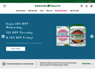 genuinehealth.com screenshot