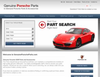 genuineporscheparts.com screenshot