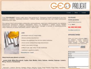 geo-projekt.com screenshot