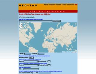 geo-tag.de screenshot