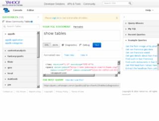 geo.query.yahoo.com screenshot