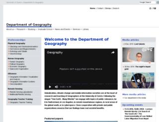 geo.unizh.ch screenshot