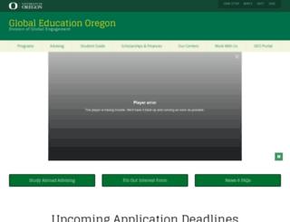 geo.uoregon.edu screenshot