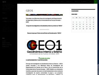 geo1.espe.edu.ec screenshot