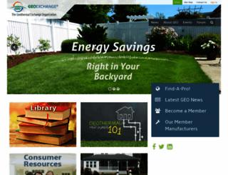 geoexchange.org screenshot