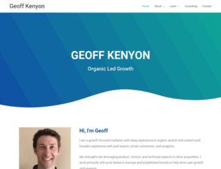 geoffkenyon.com screenshot