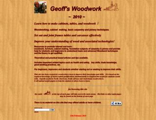 geoffswoodwork.co.uk screenshot
