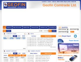 geofin.co.in screenshot