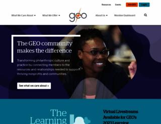 geofunders.org screenshot