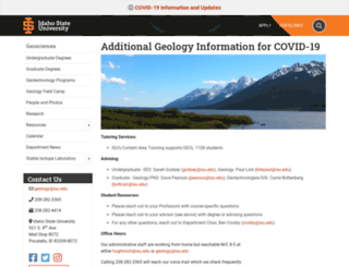 geology.isu.edu screenshot