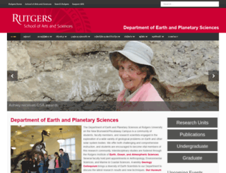 geology.rutgers.edu screenshot