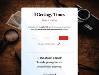 geologytimes.com screenshot