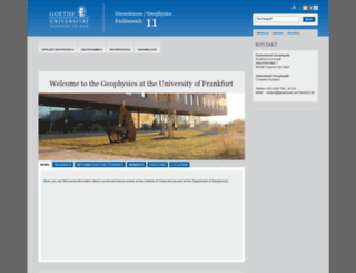 geophysik.uni-frankfurt.de screenshot