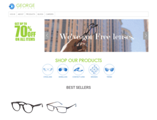 george-optical.com screenshot