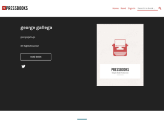 georgegallego.pressbooks.com screenshot