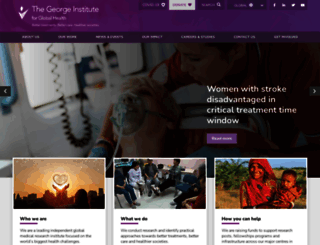 georgeinstitute.org screenshot