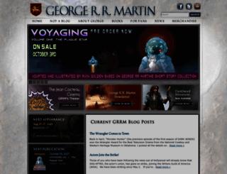 georgerrmartin.com screenshot