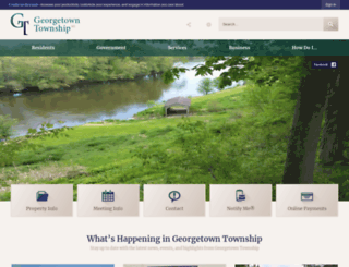 georgetown-mi.gov screenshot