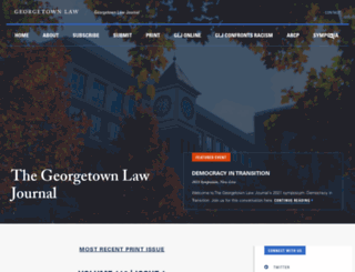georgetownlawjournal.org screenshot