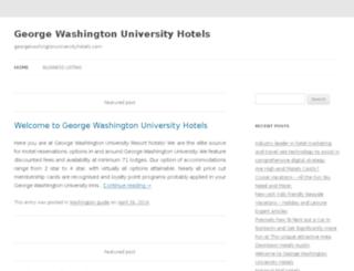 georgewashingtonuniversityhotels.com screenshot