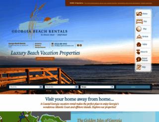 georgiabeachrentals.com screenshot