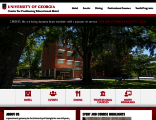georgiacenter.uga.edu screenshot