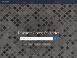 georgiaencyclopedia.org screenshot