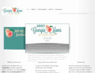 georgiamomsforbetterbirth.com screenshot