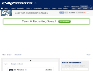 georgiasouthern.247sports.com screenshot