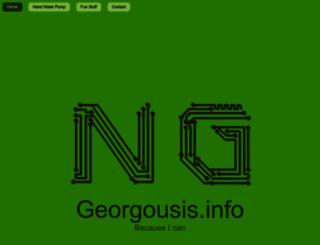 georgousis.info screenshot